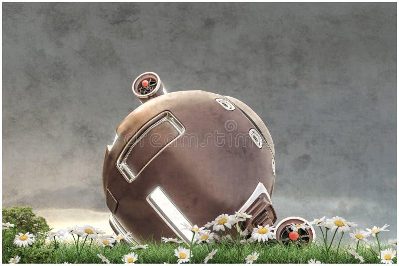 Astronautyczna kapsuła ilustracji