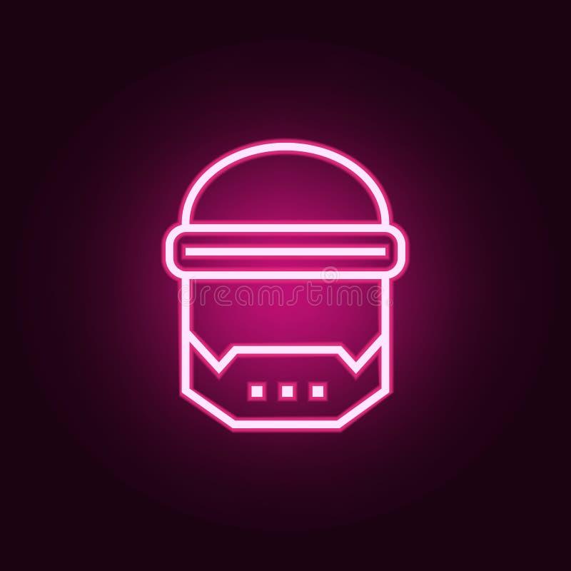astronautyczna maskowa neonowa ikona Elementy sie? set Prosta ikona dla stron internetowych, sie? projekt, mobilny app, ewidencyj ilustracji