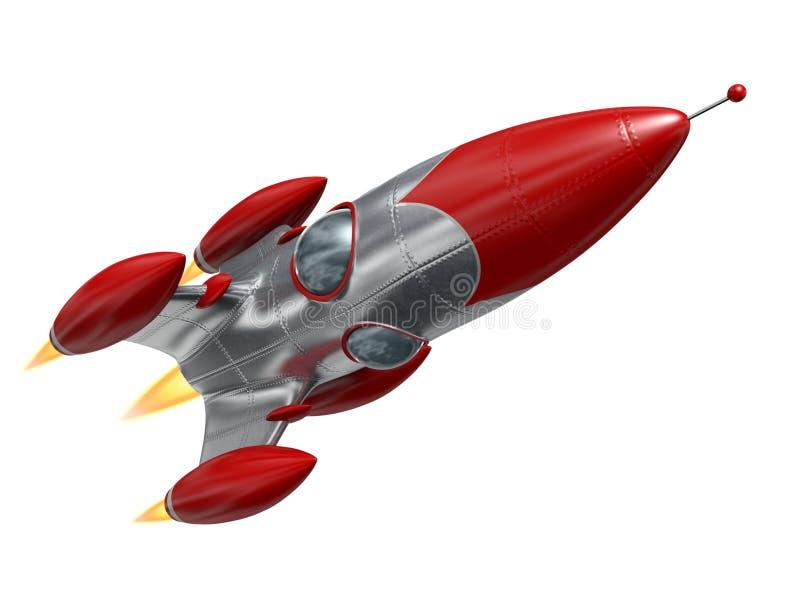Astronautyczna rakieta ilustracji
