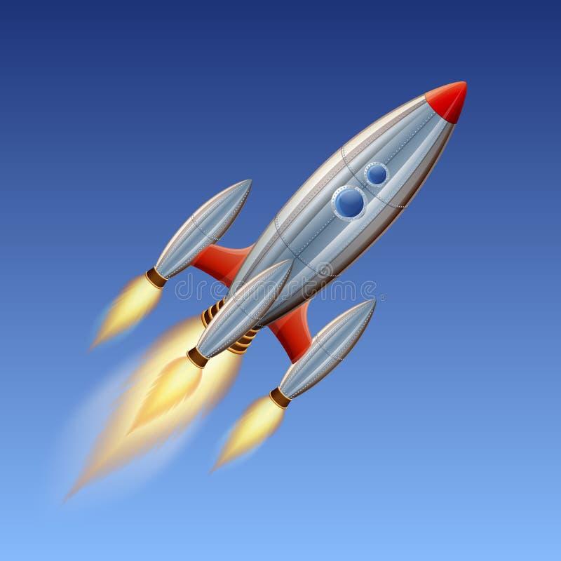 Astronautyczna rakieta ilustracja wektor