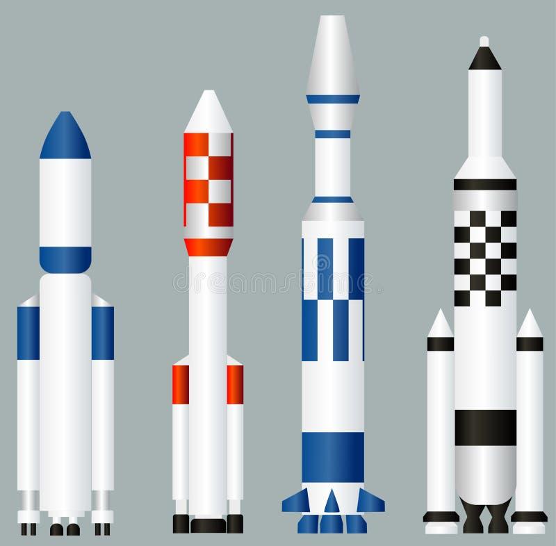 Astronautyczne rakiety ilustracji
