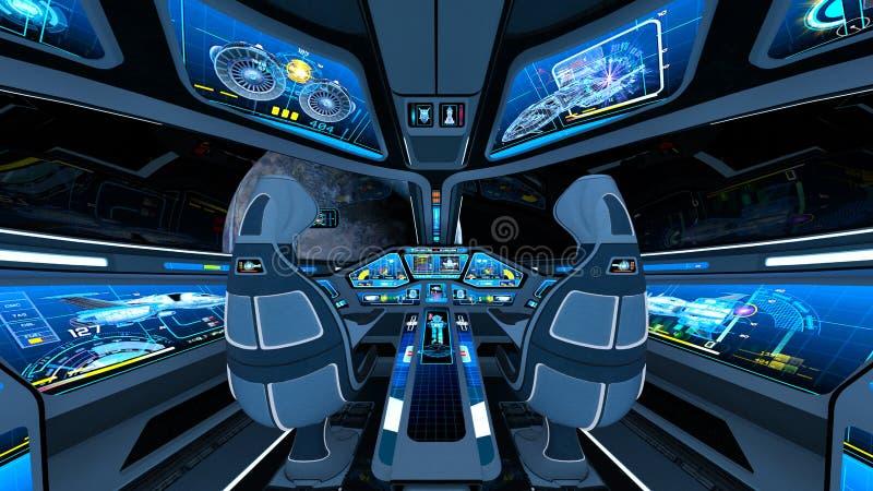 Astronautycznego statku kokpit royalty ilustracja