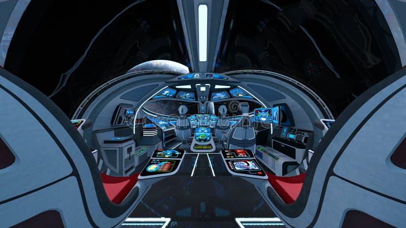 Astronautycznego statku kokpit ilustracja wektor