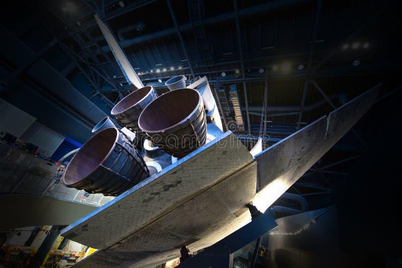 Astronautycznego wahadłowa Atlantis NASA centrum lotów kosmicznych imienia johna f. kennedyego obraz stock