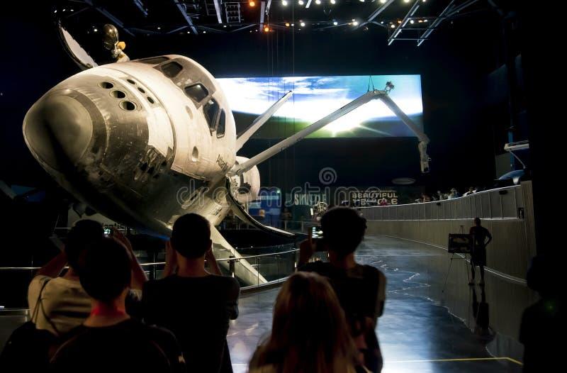 Astronautycznego wahadłowa eksponat Atlantis obrazy royalty free