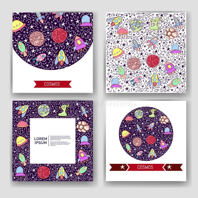 Astronautycznego wektoru set Okręgu projekta wektorowy płaski skład astronautyczne ikony i infographics elementy ilustracji