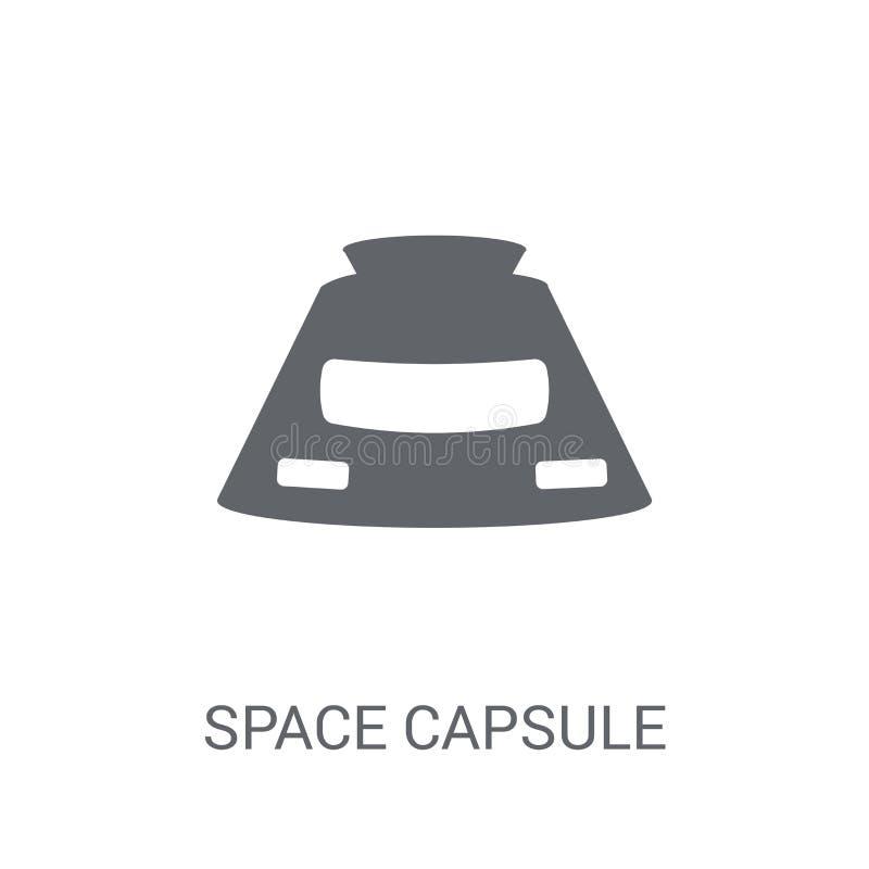 Astronautycznej kapsuły ikona  ilustracja wektor