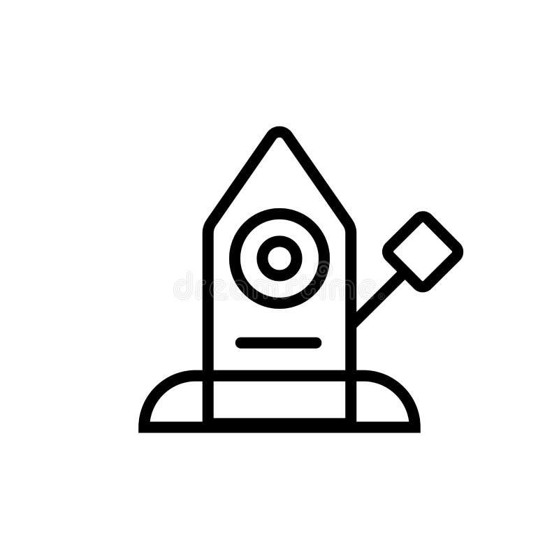 Astronautycznej kapsuły ikony wektoru znak i symbol odizolowywający na białym tle royalty ilustracja