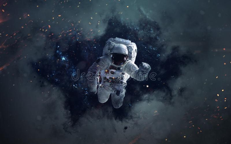 Astronautycznej nauki fikci wizerunek Ten wizerunku elementy meblujący NASA zdjęcie royalty free