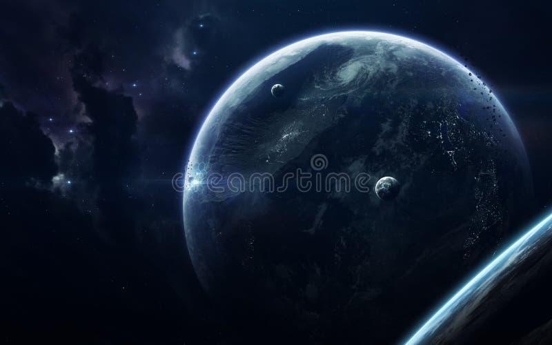 Astronautycznej nauki fikci wizerunek Ten wizerunku elementy meblujący NASA zdjęcia royalty free