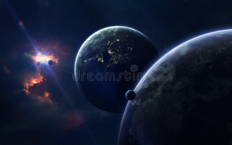 Astronautycznej nauki fikci wizerunek Ten wizerunku elementy meblujący NASA zdjęcia stock