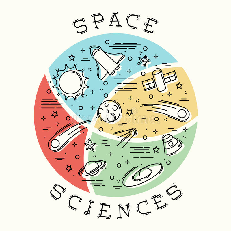 Astronautycznej nauki ilustracja royalty ilustracja
