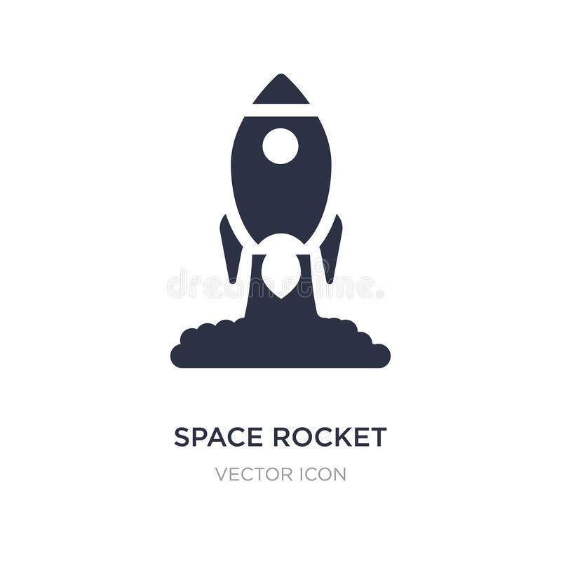 astronautycznej rakiety wodowanie ikona na białym tle Prosta element ilustracja od Przewiezionego pojęcia ilustracja wektor