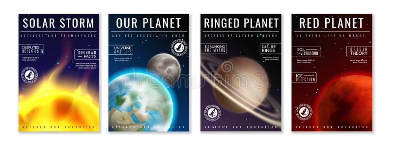 Astronautyczni plakaty Kosmity podróżowanie, astronauta bada w kosmosie, wszechrzeczej wycieczki pokrywy galaxy fantazjujący wekt ilustracji