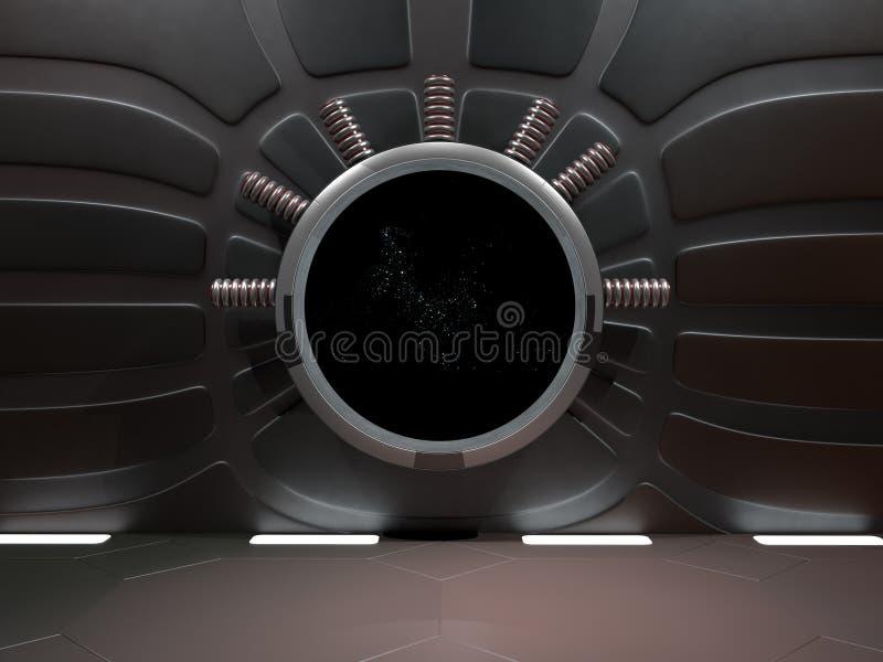 Astronautyczny środowisko, przygotowywający dla comp twój charaktery 3D renderin royalty ilustracja