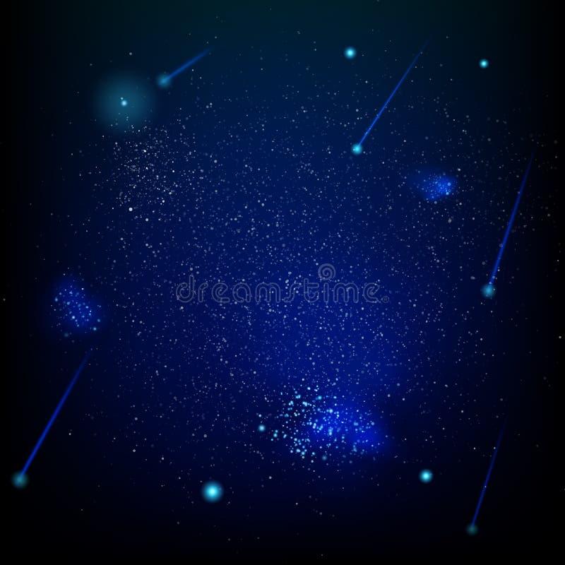Astronautyczny abstrakcjonistyczny gwiazdowy pole 10 eps ilustracja wektor