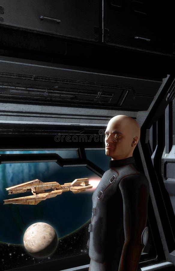 Astronautyczny dowódca royalty ilustracja