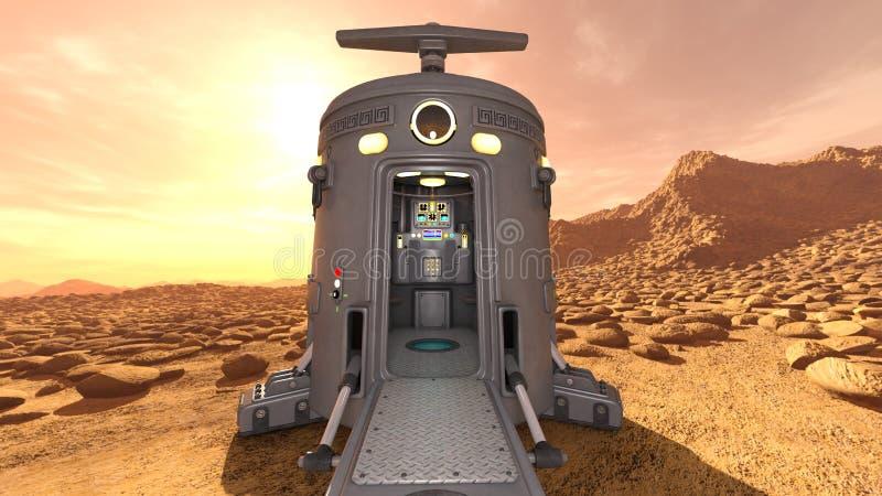 Astronautyczny lander fotografia royalty free