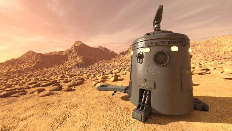 Astronautyczny lander zdjęcie stock