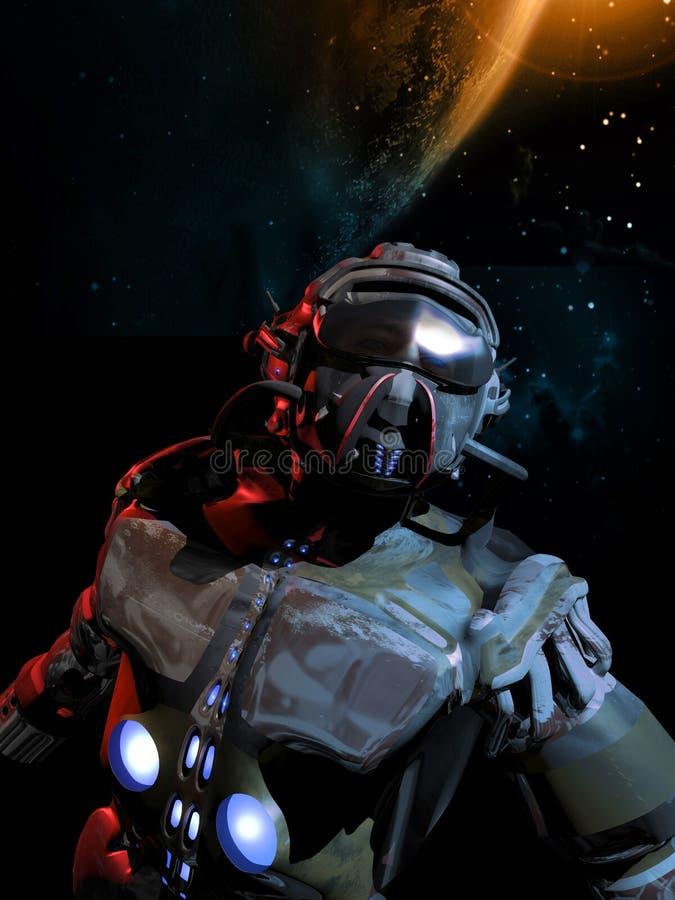 Astronautyczny legionista ilustracja wektor
