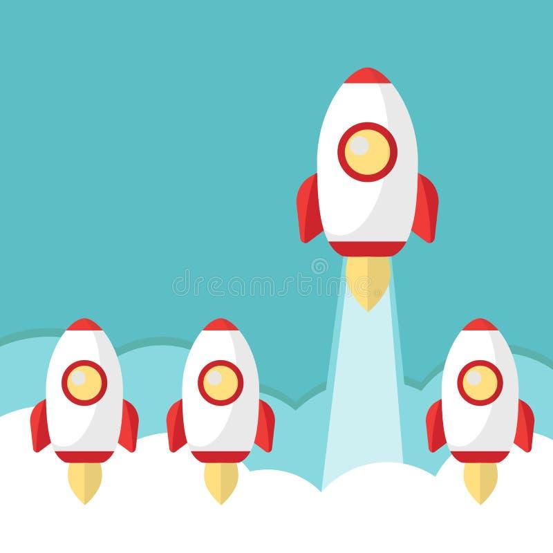 Astronautyczny lider rakiety wodowanie ilustracja wektor
