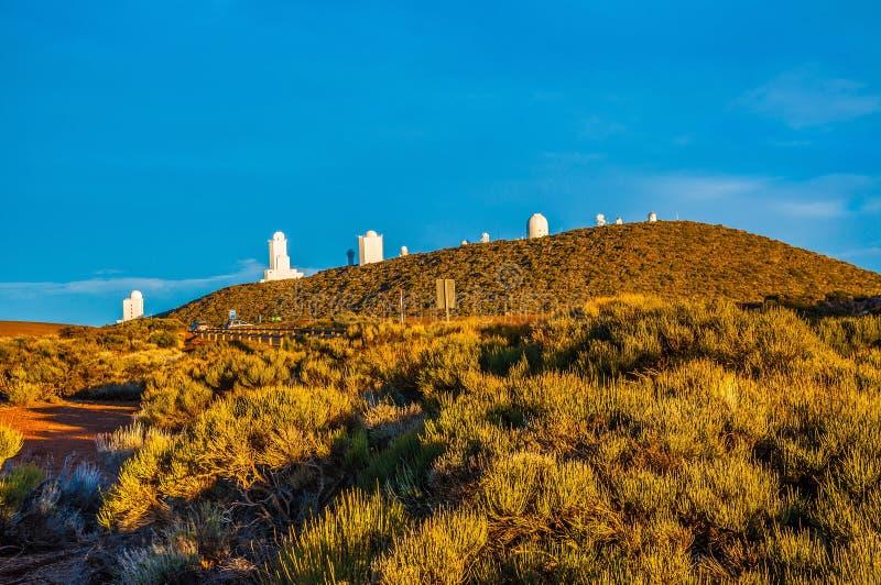 Astronautyczny obserwatorium na górze w Tenerife, wyspy kanaryjska zdjęcie stock