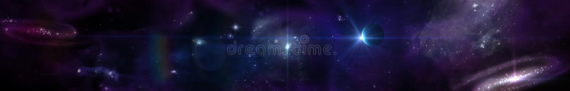 Astronautyczny panorama krajobraz widok wszechświat ilustracja wektor