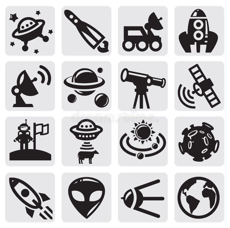 Astronautyczny set ilustracji