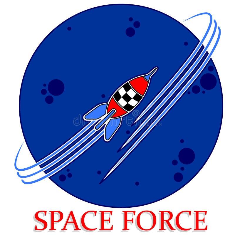Astronautyczny siła logo royalty ilustracja