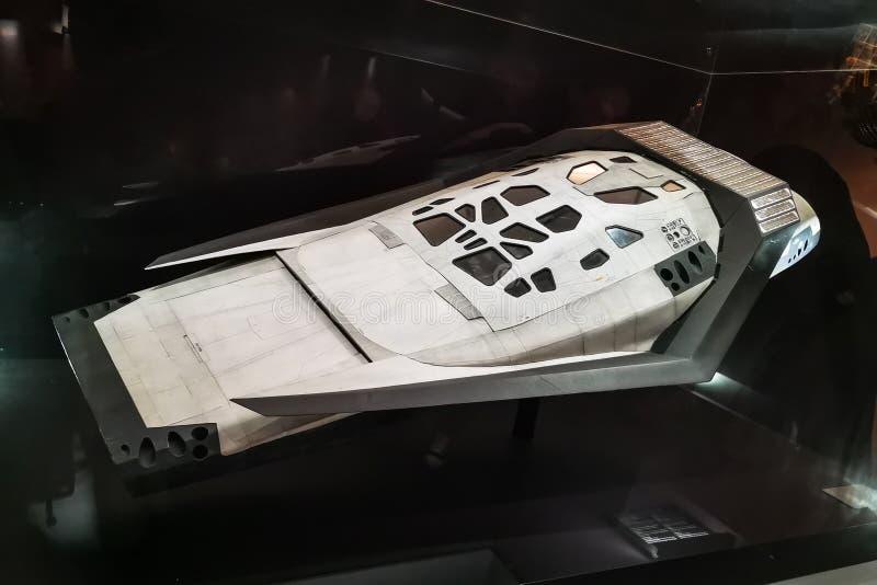 Astronautyczny statek od Międzygwiazdowego obrazy royalty free