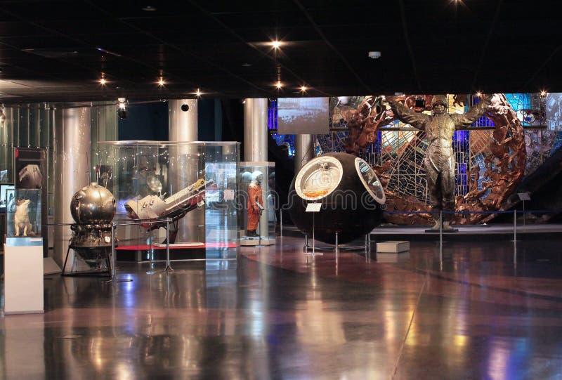 Astronautyczny Subjugators muzeum VVC. Moskwa, Rosja zdjęcia stock