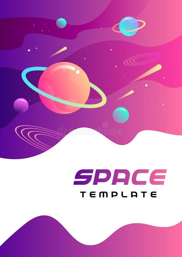 Astronautyczny szablon - wektorowa ilustracja