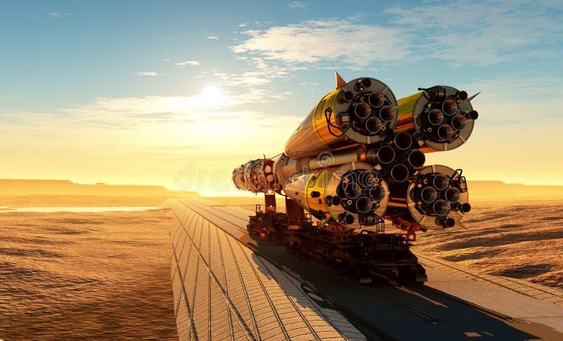 Astronautyczny transport zdjęcia royalty free