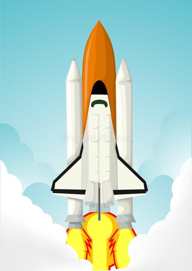Astronautyczny wahadłowiec ilustracji