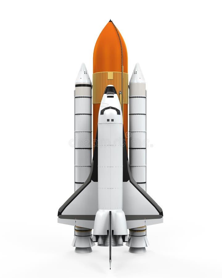 Astronautyczny wahadłowiec Odizolowywający ilustracja wektor