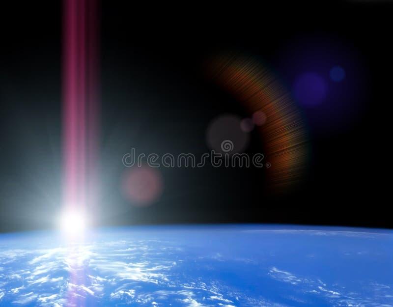 astronautyczny wschód słońca royalty ilustracja