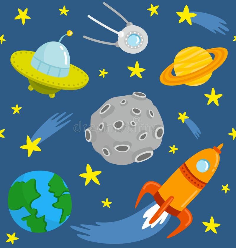 Astronautyczny wzór royalty ilustracja