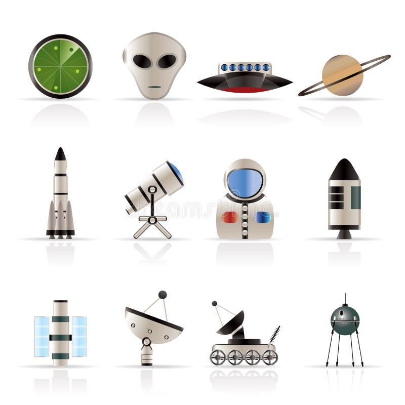 astronautyka ikon przestrzeń royalty ilustracja