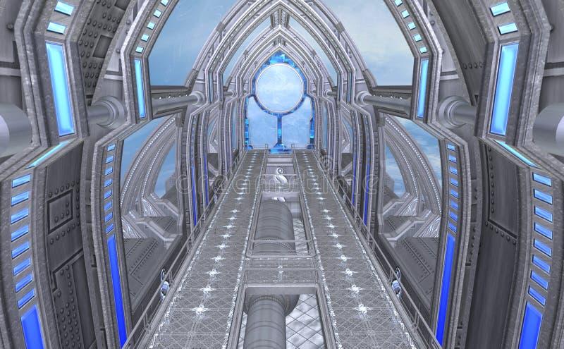 astronave di fantasia della rappresentazione 3D illustrazione vettoriale