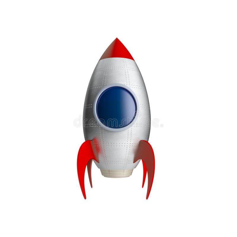 Astronave isolata su bianco royalty illustrazione gratis
