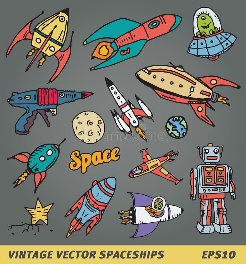 Astronavi d'annata royalty illustrazione gratis