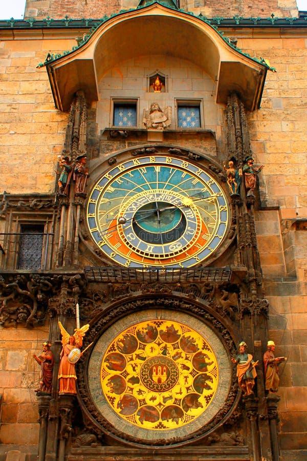 Astronimical-Uhr in Prag, Tschechische Republik lizenzfreie stockfotografie