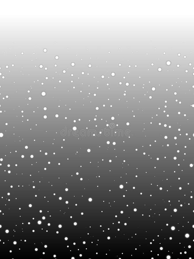 Astronnomic Ruimte Horizontaal Naadloos Patroon De herhaalbare achtergrond van de nachthemel stock illustratie