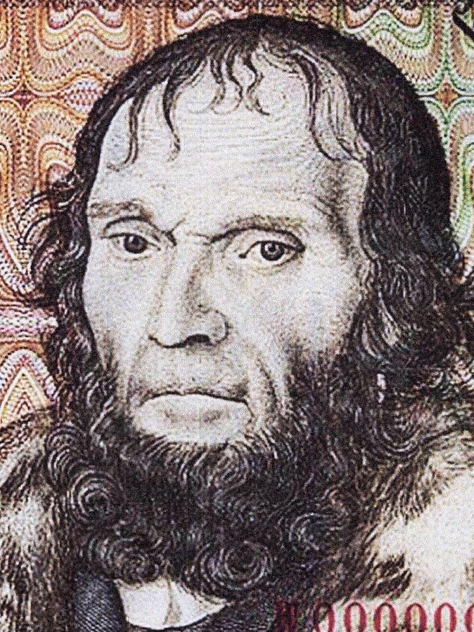 Astronom Johannes Schöner en stående royaltyfria bilder
