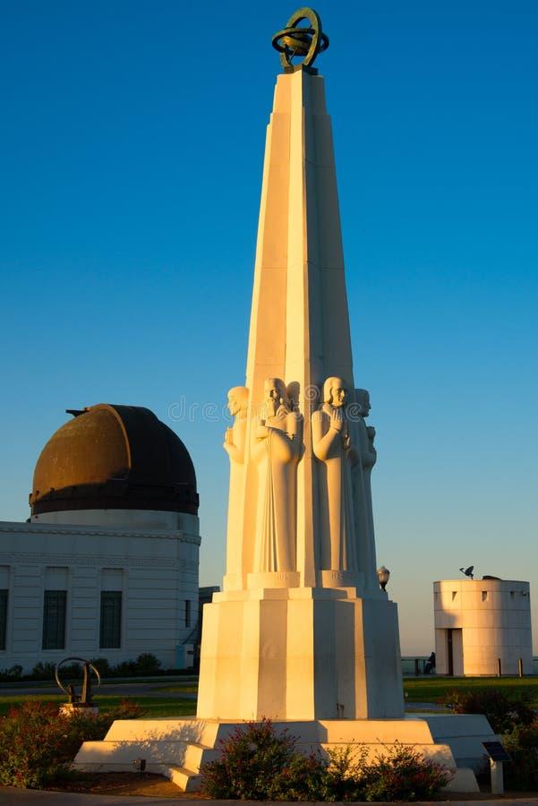 Astronomenmonument in Griffith Park royalty-vrije stock foto's