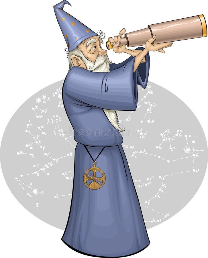 Astronomer royalty free illustration