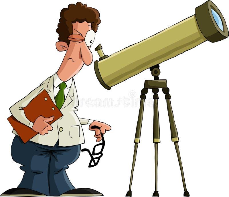 Astronomer vector illustration