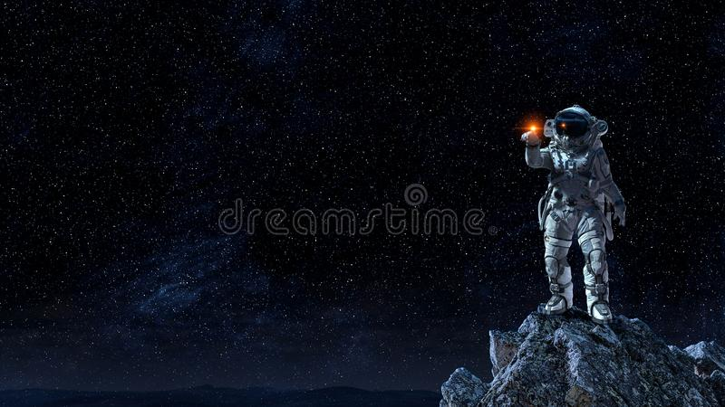 Astronomia como uma ciência Meios mistos foto de stock royalty free