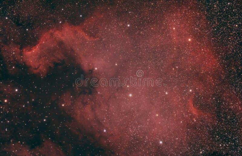 Astronomia - Północnoamerykańska mgławica zdjęcia royalty free