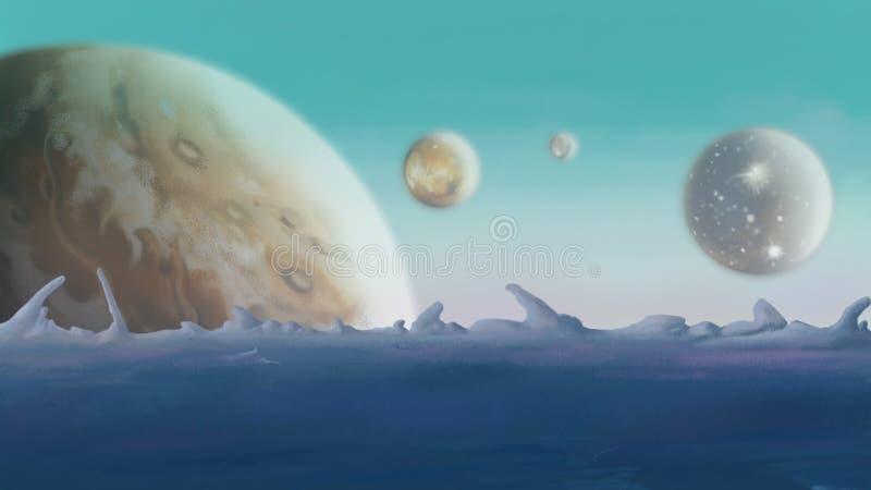 Astronomia, planetas ilustração royalty free